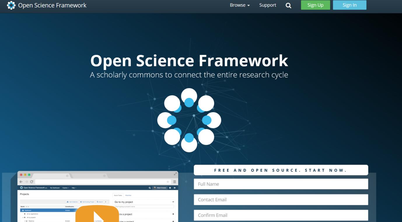 afbeelding OpenScience framework